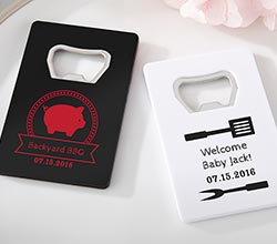 Personalized Credit Card Bottle Opener - BBQ (Black or White)