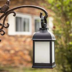 LED Vintage Decorative Black Lantern - Marrakesh (Set of 2)