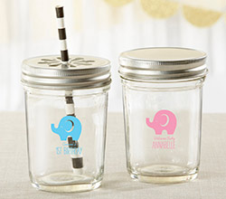 Personalized Printed Mason Jar - Little Peanut (Set of 12)