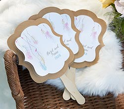 Personalized Kraft Fan - Boho (Set of 12)