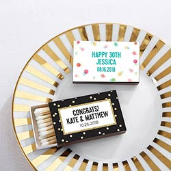 Personalized Black Matchboxes - Party Time (Set of 50)