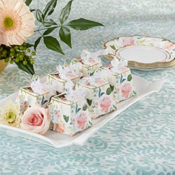 Brunch Floral Teapot Favor Box (Set of 24)