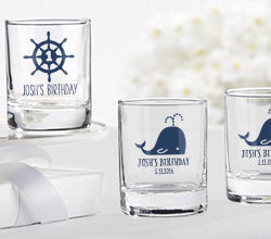 Personalized Shot Glass/Votive Holder  - Kates Nautical Birthday Collection