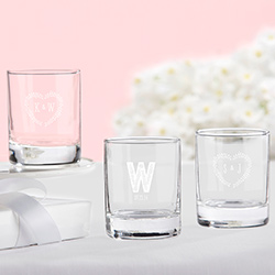 Personalized Shot Glass/Votive Holder - Kates Rustic Wedding Collection