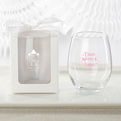 Personalized 9 oz. Stemless Wine Glass - Princess Party