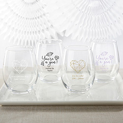Personalized 15 oz. Stemless Wine Glass - Elements