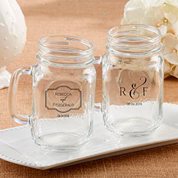 Personalized 16 oz. Mason Jar Mug - Classic