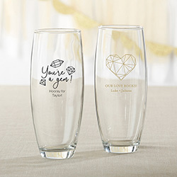 Personalized 9 oz. Stemless Champagne Glass - Elements