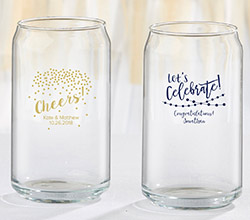 Personalized 16 oz. Can Glass - Party Time