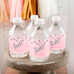 Personalized Water Bottle Labels - Its a Girl!