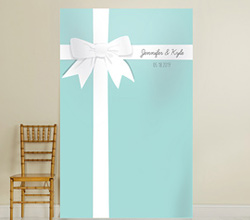 Personalized Photo Backdrop - Something Blue