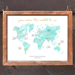 Personalized Wedding Guest Book Alternative - Map